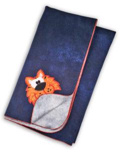 Flannel Baby Blanket - Auburn Tigers - Receiving Blanket